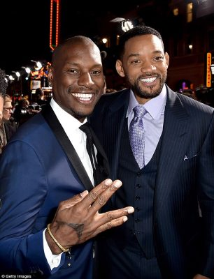 Hitting back:Will Smith has reportedly hit out at Tyrese's claims that he donated $5million (£3.8million) towards his custody battle with his estranged wife