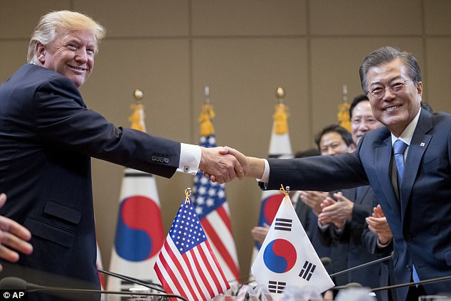 The resident left Seoul on Wednesday after meeting withMoon Jae-in, the newly elected leader of South Korea