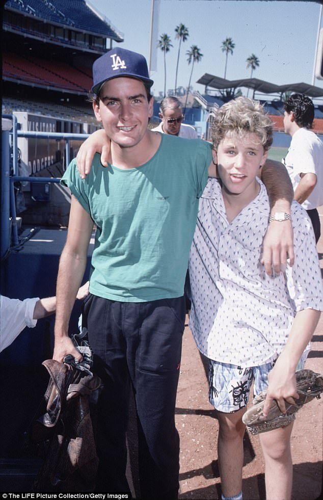 Sheen and Haim circa 1990. Sheen is being accused of raping a 13-year-old Haim while filming 'Lucas' in Chicago approximately four years before this photo was taken
