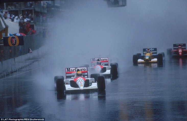 Although often baked in sunshine, Adelaide was prone to a downpour which in 1991 led to the shortest grand prix ever. With enormous credit to the 26-strong field there was not one accident at the start of the race. However as rain intensified six cars retired leading to the race being stopped and Ayrton Senna (above) being declared the winner after just 14 laps