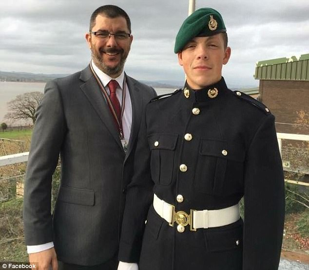 Marine James Holloway (right), of 42 Commando based at RM Bickleigh near Plymouth, Devon, died aboard RFA Fort Rosalie on October 29