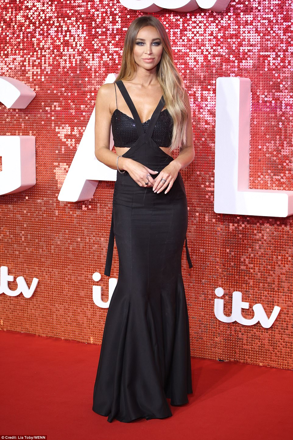 Gorgeous: TOWIE's leading ladies made sure to bring a touch of Essex glamour to the event, including returning star Lauren Pope