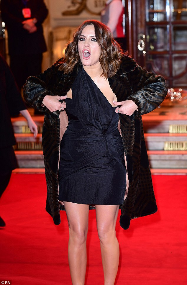 Caroline Flack Leaves Londons ITV Gala With Mystery Man