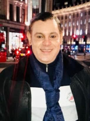 He is pictured earlier this week in London