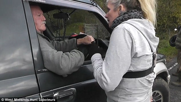 This man sitting in his car apologised to the woman and said: 'That shouldn't have happened'