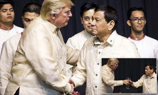 Donald Trump meets Philippines President Rodrigo Duterte