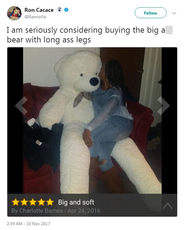 Giant Teddy Bear Is Stunning Amazon Buyers With Is Legs Daily