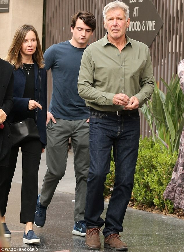 Calista Flockhart 2018 Harrison Ford Son And