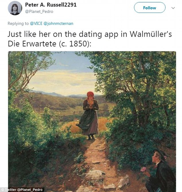 While the true explanation behind the painting may be far more time-appropriate, the century-old piece bears remarkable similarity to a scene that¿s become all too familiar today, as ¿distracted walkers¿ dominate the sidewalks with phone in hand