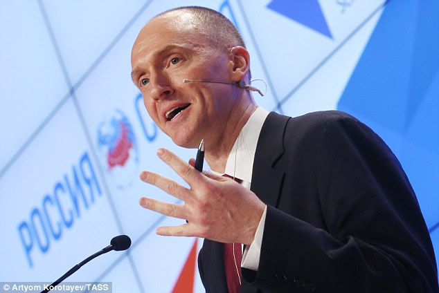 'I have no memory of his presence at a dinner at the Capitol Hill Club or any passing conversation he may have had with me as he left the dinner,' Sessions said of Carter Page