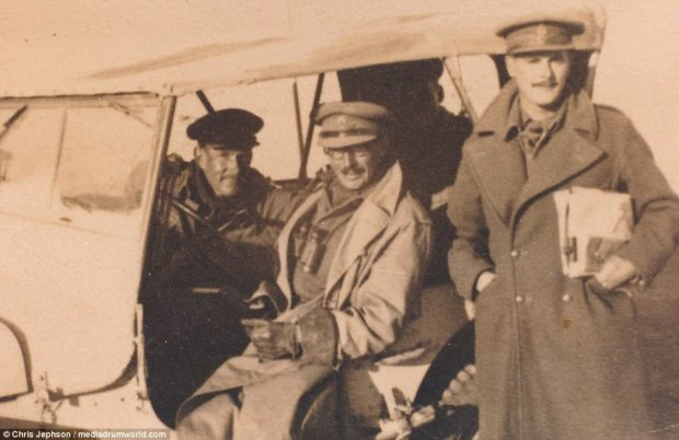 Major F.R. Jephson is pictured with two comrades.Chris Jephson, co-author, has written in the book's introduction: 'My father was inspired to start work on the research for this book by a number of events, not least the 25th anniversary of the First Battle of Alamein in 1967'
