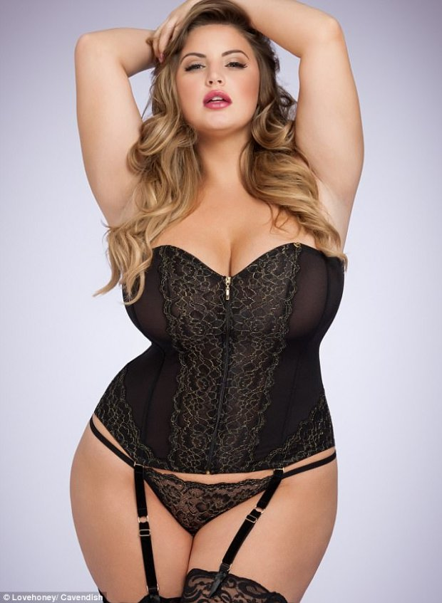 Plus-size model Ashley Alexiss, who has been dubbed the new Ashley Graham, haswon her first lingerie campaign