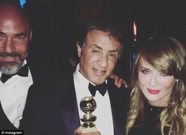 Famed clients:Venit is a William Morris Endeavor agent who reps the likes of clients include Adam Sandler, Sylvester Stallone (above with Venit's wife at the 2016 Golden Globes) and Eddie Murphy
