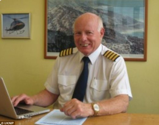 Captain Mike Green, pictured, was flying the helicopter which was involved in the fatal crash