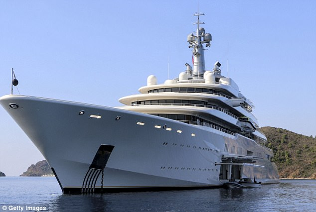 Putin Ally Docks 500m Yacht In Florida Daily Mail Online