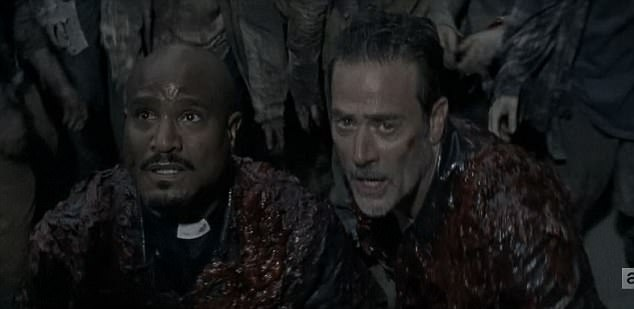 Image result for walking dead negan and father gabriel