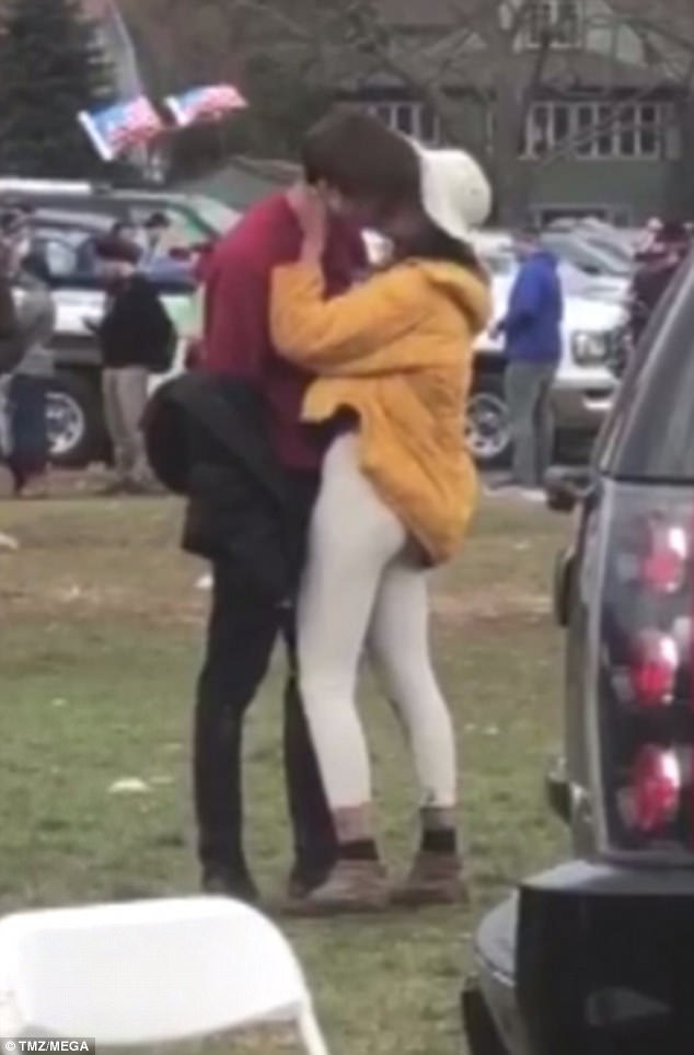 The sophomore Harvard student was caught on video sharing a passionate kiss with the former First Daughter on Saturday
