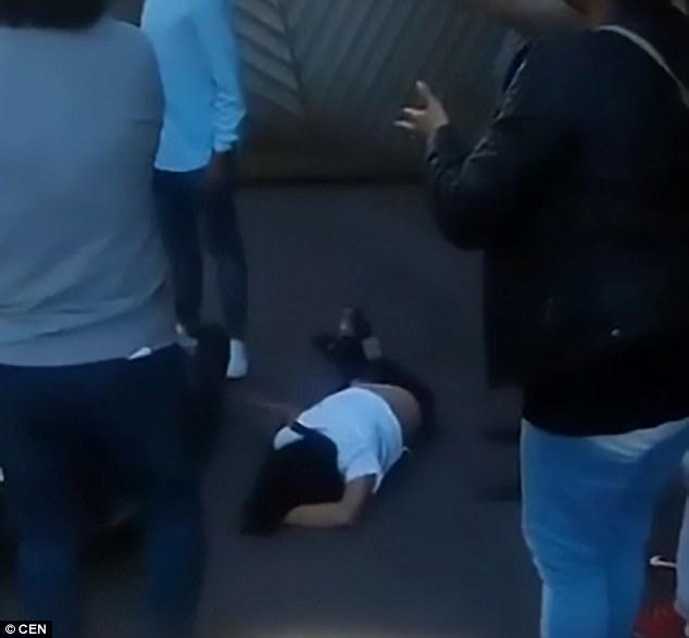 Falling Floor Emo Girl