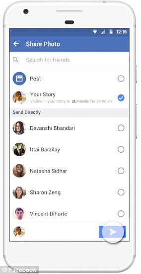 Facebook added Stories in March