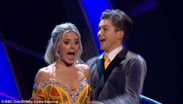 Impressive: The pair, who were given positive feedback after their performance, couldn't believe their luck as their names were called out during the results