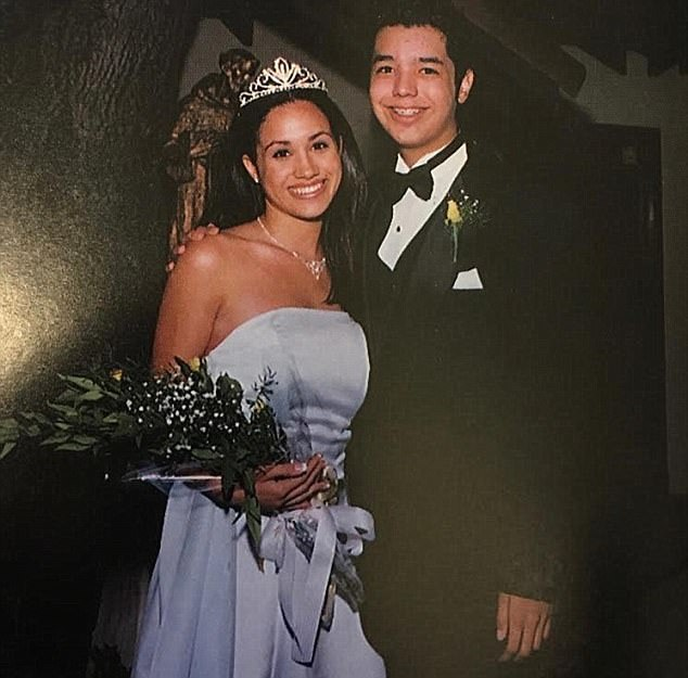 Miss Markle Is Pictured As Homecoming Queen At Her High School Prom Aged