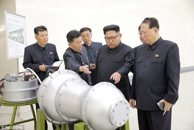 Comes as South Korean reunification minister Cho Myoung-gyon warned that Kim Jong Un may develop a viable long-range nuclear weapon within a year (file image)