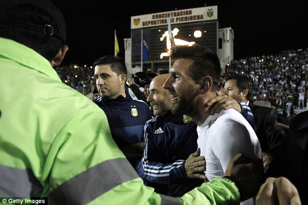 Argentina booked a spot at next year's World Cup after Lionel Messi's treble in the last qualifier