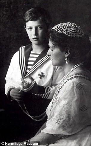Empress Alexandra with son Alexe
