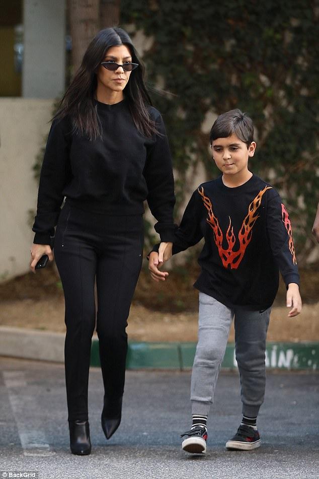Kourtney Kardashian steps out with son Mason in LA   Daily ...