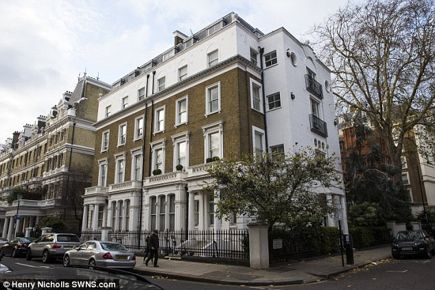 The court was told Roberts, of South Kensington, London, (her home is pictured) took anti-psychotic drug Xanax before going out drinking with Mr Benitez and his friends