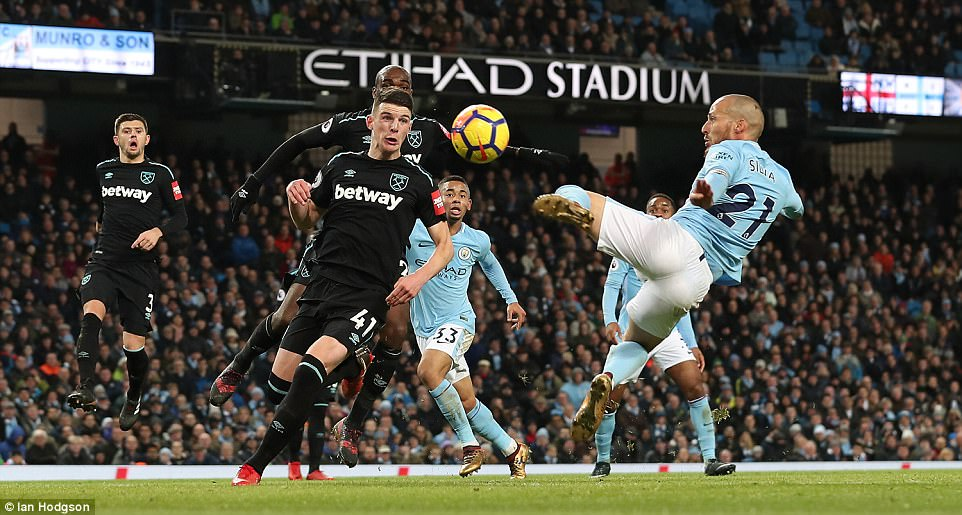 The City skipper latched on to Kevin de Bruyne's cross to guide the ball past Adrian with less than 10 minutes remaining