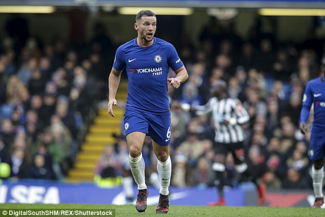 Chelsea midfielder Danny Drinkwater looks on during his team's victory over Newcastle