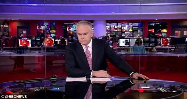 Huw couldn't make it up! BBC newsman Huw Edwards always opens the News at Ten bulletin with the same femiliar left leaning stance...until the last week, that is