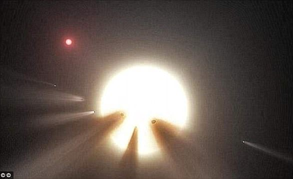 The star, also known as KIC 8462852, is 1,400 light-years away and has confused astonomen since its discovery in 2015 (artist's impression).
