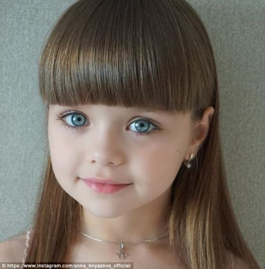 Anastasia Knyazeva, six, has been hailed the 'most beautiful girl in the world' on Instagram