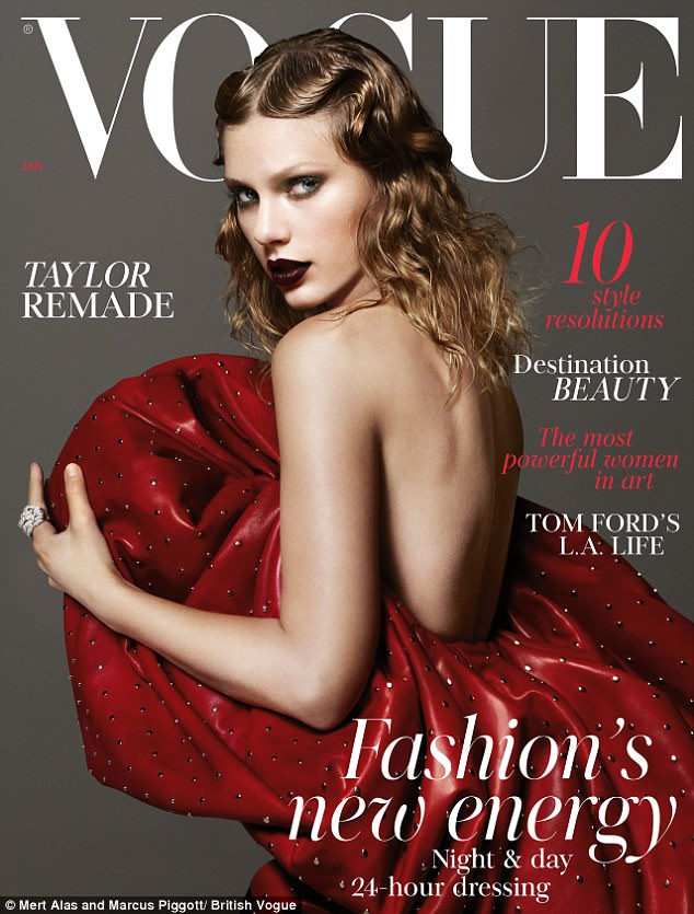 This is my moment: Taylor Swift was chosen to grace the cover of British Vogue's January 2018 issue - commanding attention in a bold backless Saint Laurent gown by Anthony Vaccarello