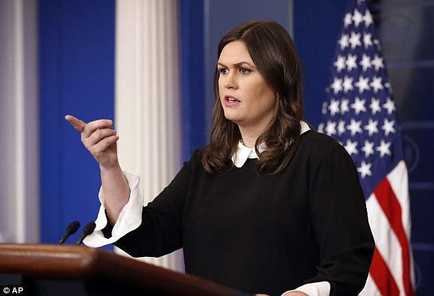 White House Press Secretary Sarah Huckabee Sanders said she was 'not aware' of anything like what was described this afternoon