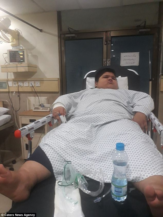 Muhammad endured a two-hour surgery at Lahore's Hameed Latif Hospital (pictured after)