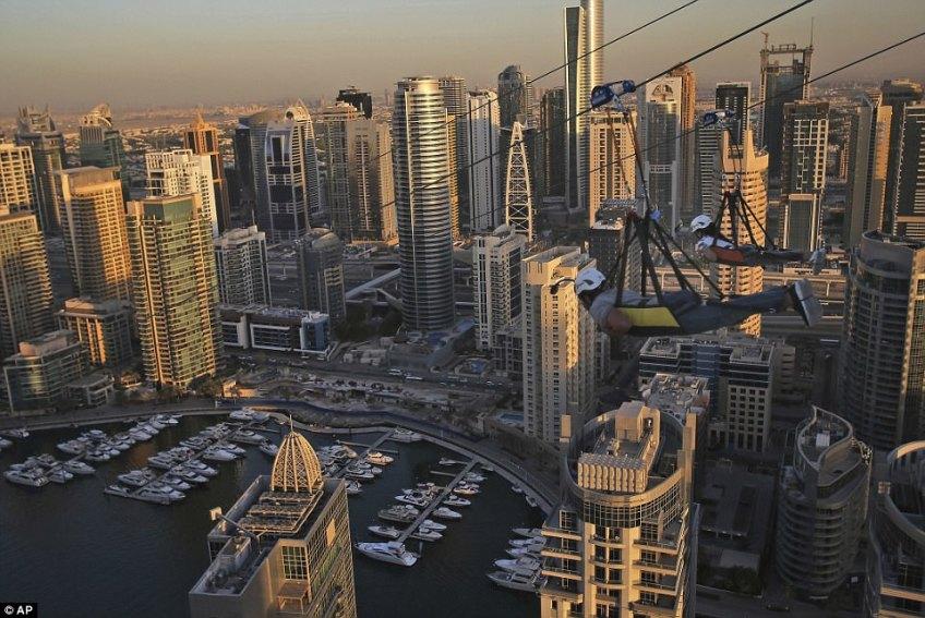 The 170-metre-high (558ft) XLine opens this week in Dubai's Marina neighbourhood
