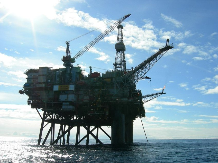 Efforts are underway to get North Sea oil rig workers to safety from Ninian Southern (file picture), 240 miles from Aberdeen