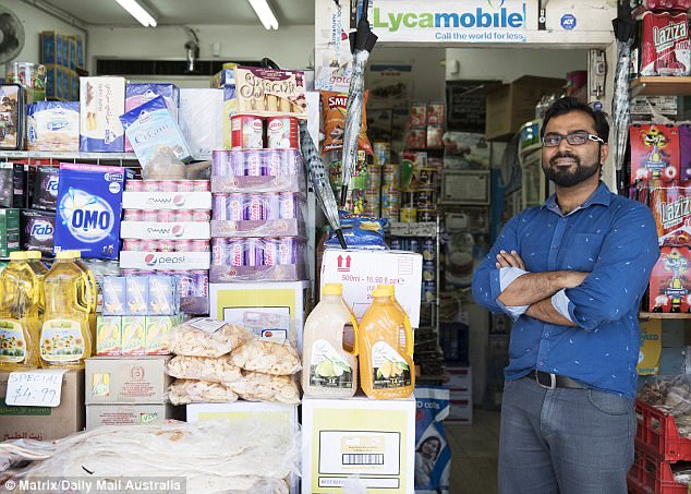 Shop-owner Fayis, 35, told Daily Mail Australia he didn't personally support same-sex marriage, but he accepted the result of the postal survey. 'This is not right,' he said