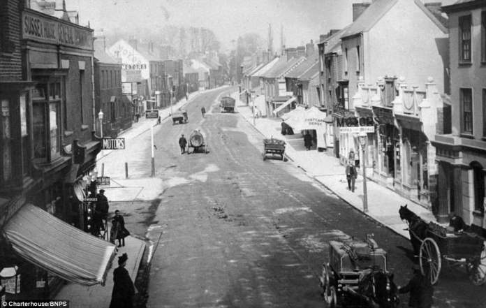 Among the postcard is one taken of the high street in Wellington, Somerset. The road is scarcely full for such a central location, and is full of manure from the horse-drawn carriages