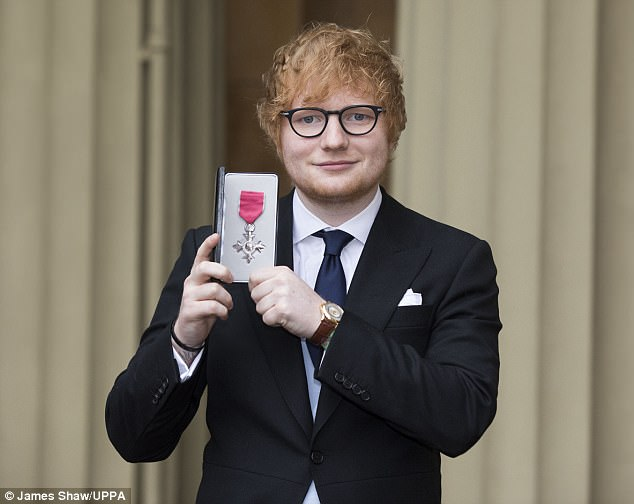 Special recognition: Ed has an Ivor Novello, two Grammys and three BRIT Awards to his name