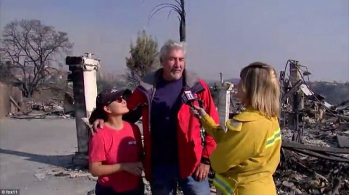 Donna and Mike McKendry (pictured), spoke out after their 'dream home' on Skyview Terrace in Ventura was completely leveled by the Thomas Fire