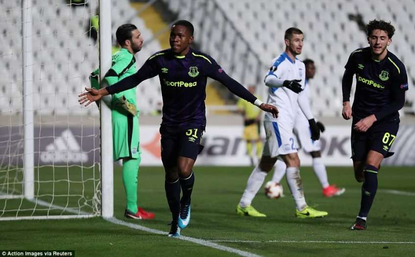 The winger headed in from close range to give his side the lead against Apollon Limassol in Nicosia
