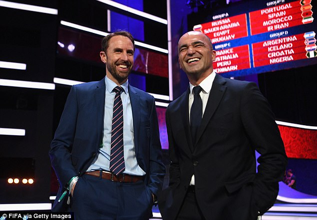 Southgate's England will also play Roberto Martinez's Belgium and Tunisia in their group