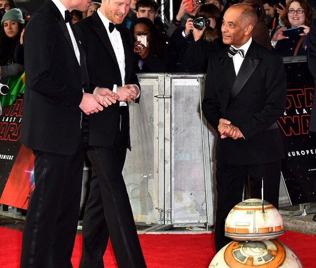 Hollywood Debut Film Goers Will See The Princes In Their Stormtrooper Outfits But With