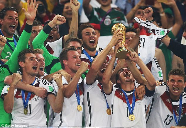 The German FA will award each player £265,000 if they successfully defend the World Cup