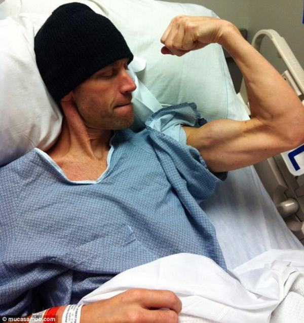 Rob Mooberry, now 43, was diagnosed with stage 4 colorectal cancer in 2012 in Las Vegas, where he is a bartender. He switched to a vegan diet after chemo, and the cancer shrunk