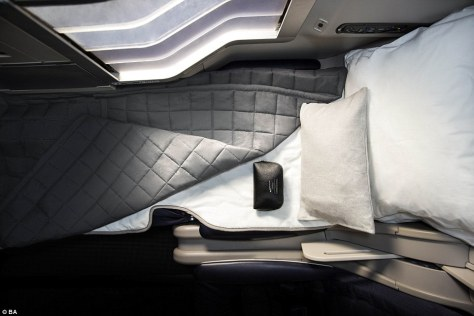 And relax: British Airways has teamed up with The White Company to create the best-possible in-flight sleep experience